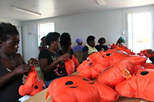 Big Five Duty Free Teddy Cushions from Diepsloot