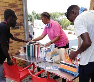 Kasi boredom book club library providing participants with literature for the lockdown
