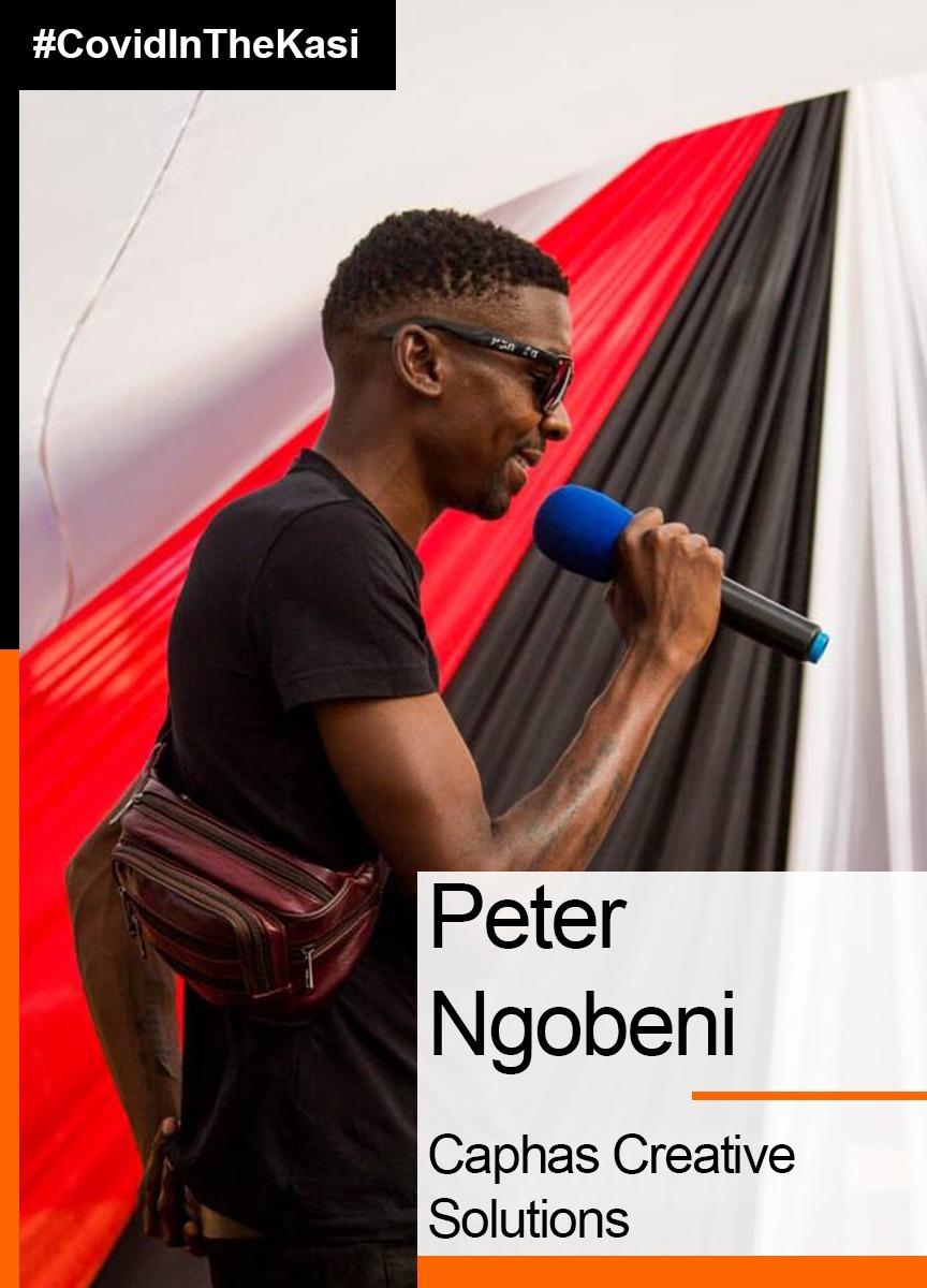 Covid in the Kasi citizen journalist, Peter Ngobeni