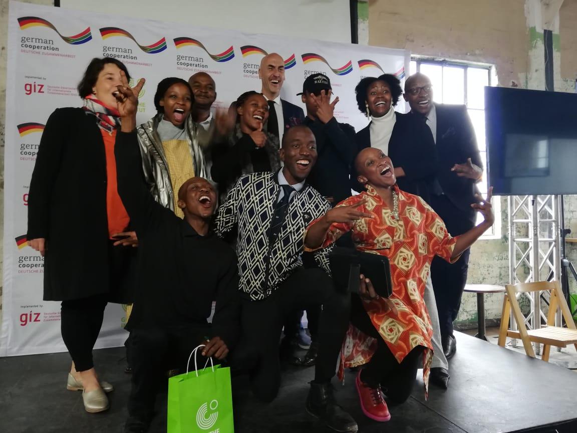 Goethe CET award winners posing